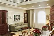 Визуализация проекта загородного дома в классическом стиле.