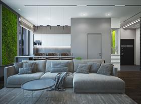 Дизайн трехкомнтаной квартиры, Москва, ЖК Символ