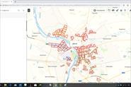 Карта районов г.Омска для промоутеров на яндекс-картах