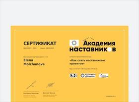 Сертификат наставника