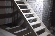 Установка марша лестницы. Деревня Начапкино