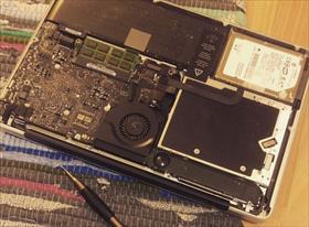 Замена жесткого диска на SSD на Макбуке