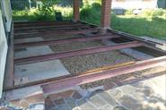 Сварка каркаса и монтаж терассной доски