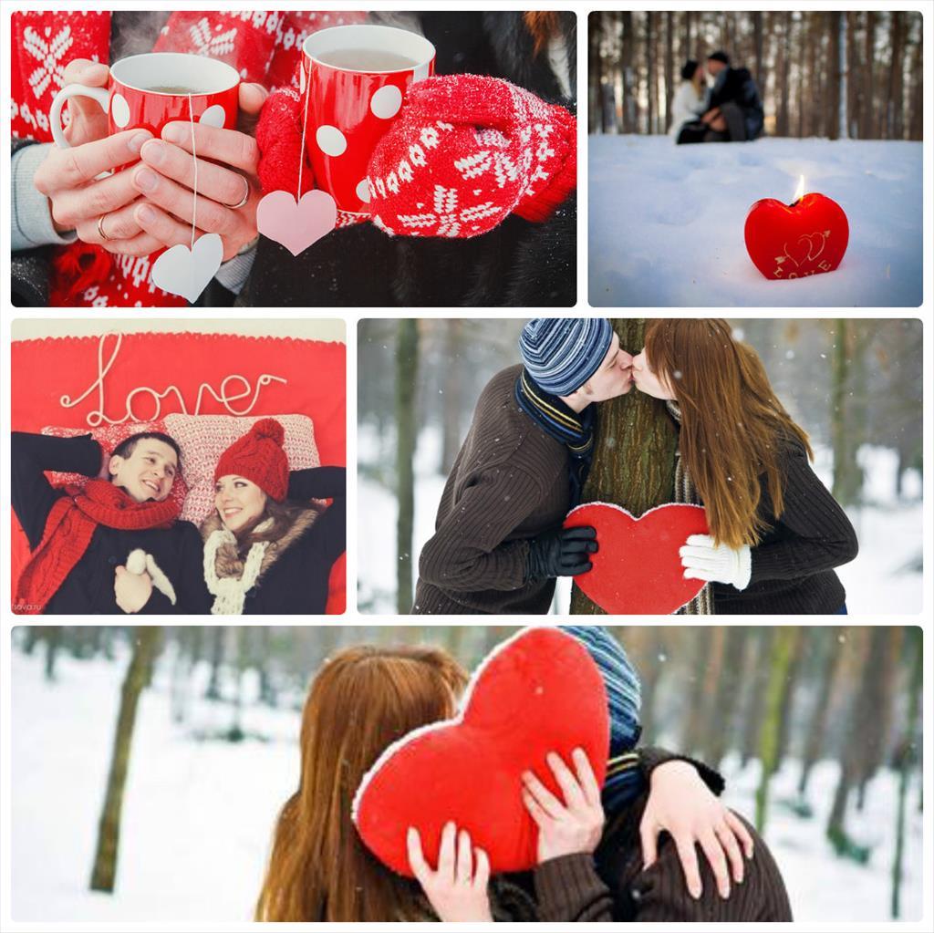 зимняя фотосессия для пары на природе
