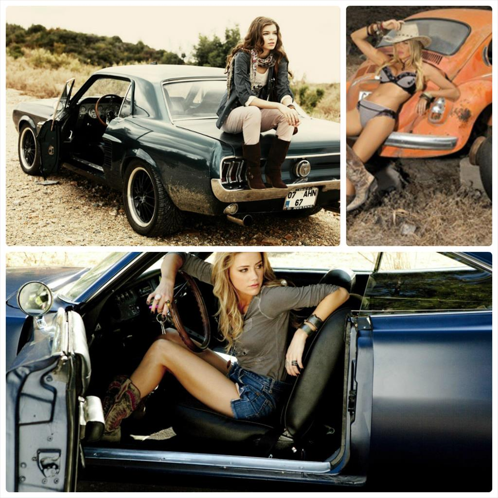 фотосессия девушка машина