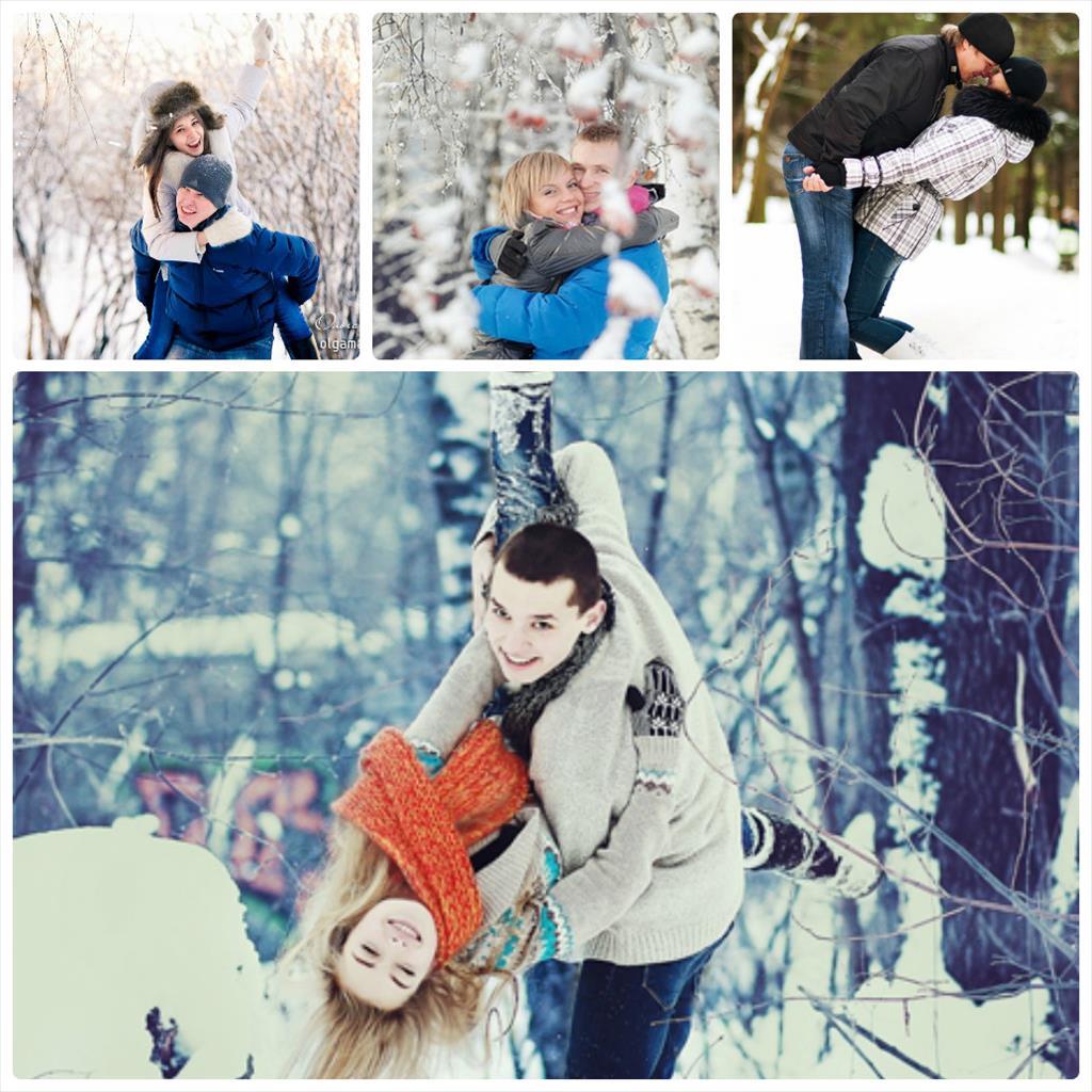 идеи для фотосессии для влюбленных зимой