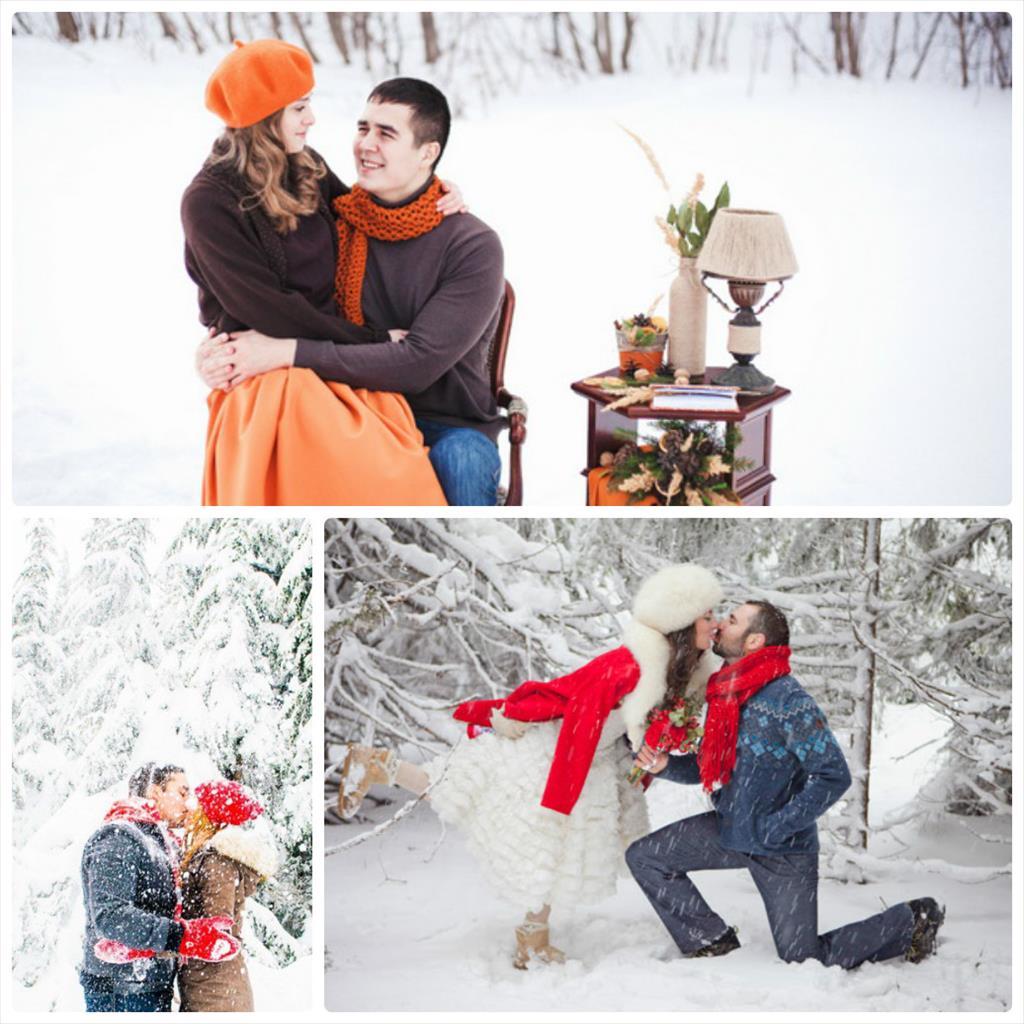 зимняя фотосессия на улице влюбленных
