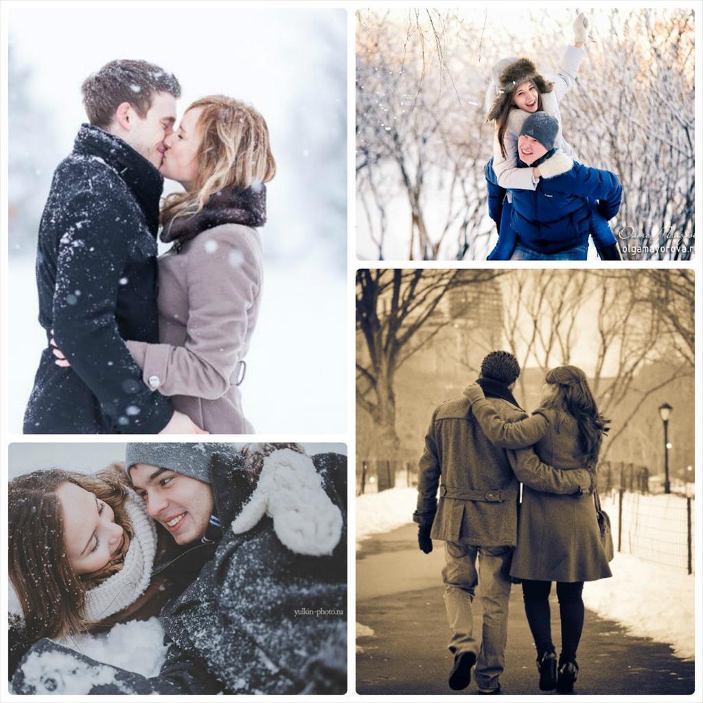 идеи для фотосессии пары зимой