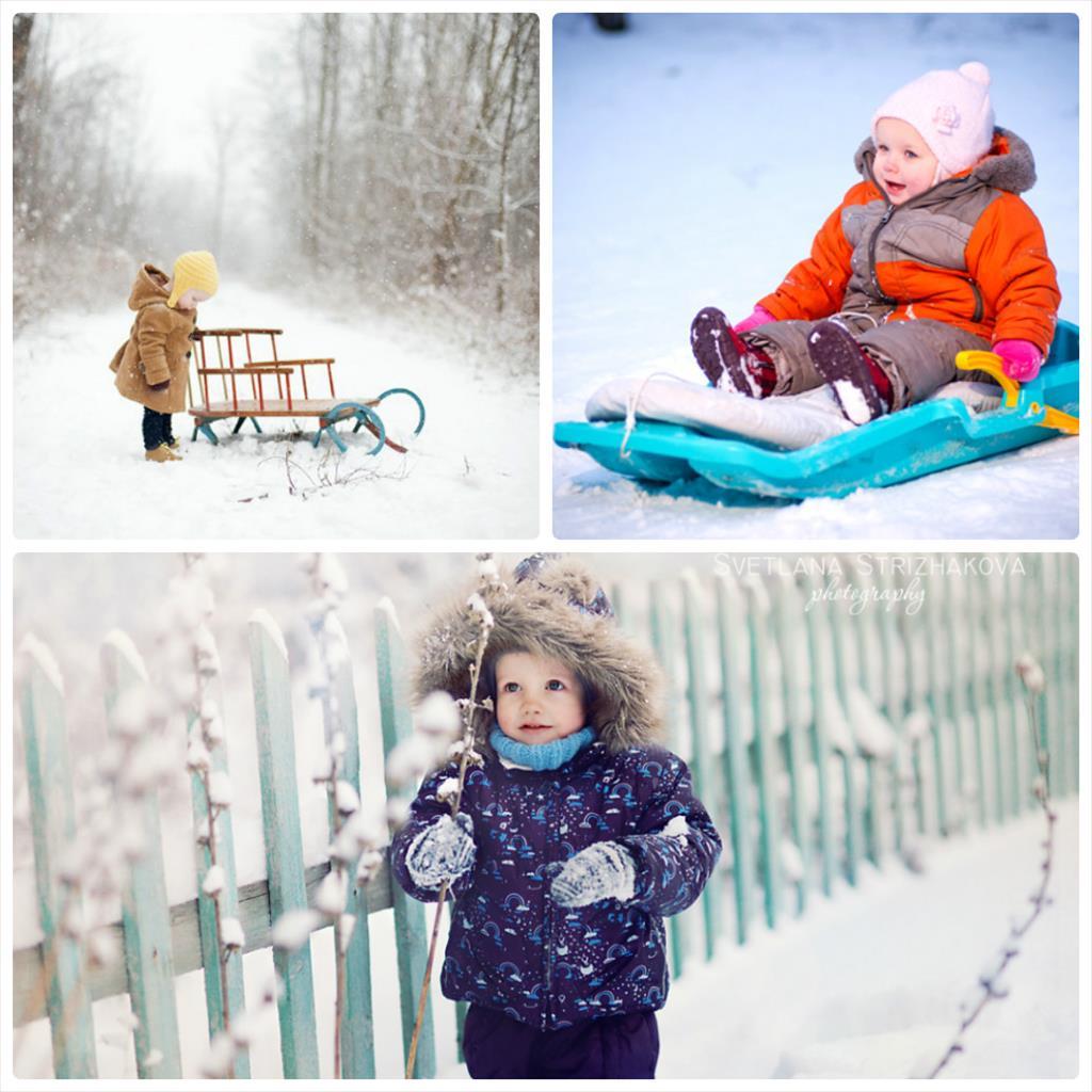 идеи для зимней детской фотосессии